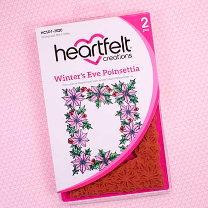 SO: Heartfelt Creations Limited Edition Die and Stamp Set - Winters Eve Poinsettia