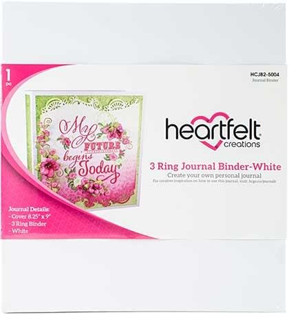 SO: Heartfelt Creations Three Ring Journal Binder - White