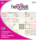 Heartfelt Creations Double-Sided Paper Pad 12X12 24pk - Classic Wedding (12 Designs)