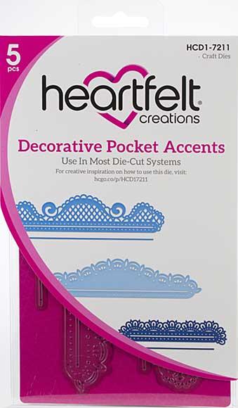 Heartfelt Creations Cut and Emboss Dies - Decorative Pocket Accents