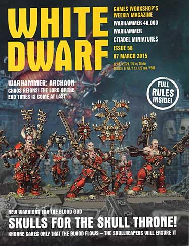 White Dwarf Weekly Magazine Issue 58