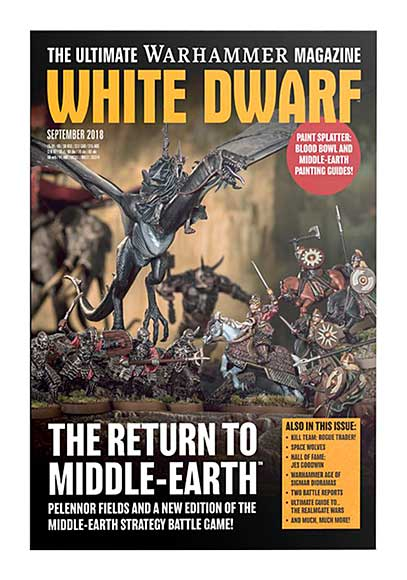 White Dwarf Monthly Magazine Issue #25 September 2018
