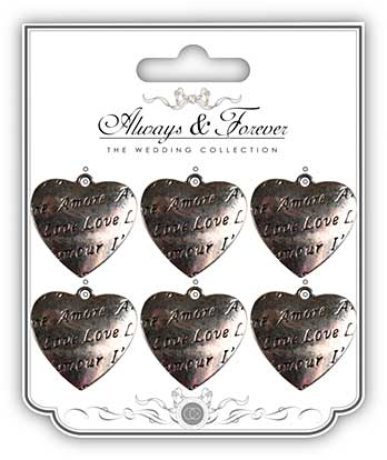 SO: Always and Forever - Amore Heart Vintage Metal Charms