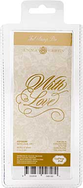 SO: Couture Creations GoPress Anna Griffin Hotfoil Plate - With Love
