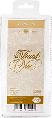 SO: Couture Creations GoPress Anna Griffin Hotfoil Plate - Thank You