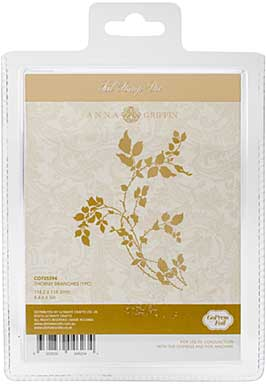 SO: Couture Creations GoPress Anna Griffin Hotfoil Plate - Thorny Branches