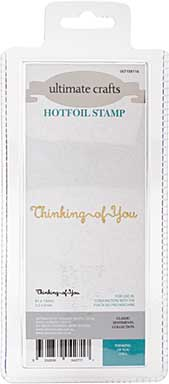 GoPress Hotfoil Plate Classic Sentiments - Thinking Of You