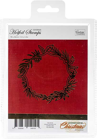 Couture Creations Let Every Day Be Christmas Hotfoil Stamp - Wild Wreath Frame