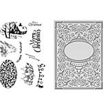 Couture Creations Let Every Day Be Christmas Stamp & Ornate Christmas Embossing Folder 5x7