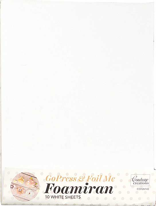 Couture Creations WHITE Foamiran Flower Making Sheets 10pk