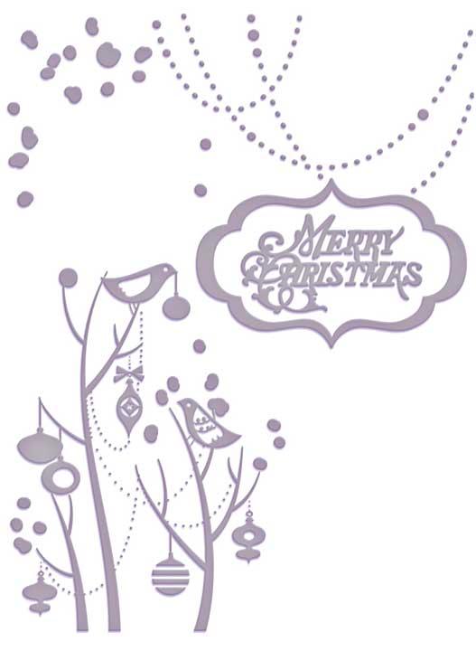 Emboss Folder Happy & Merry Xmas Ho Ho Ho Collection