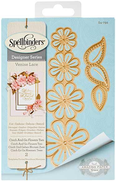 SO: Spellbinders Shapeabilities Dies - Venise Lace - Cinch and Go Flowers Two (Becca Feeken)