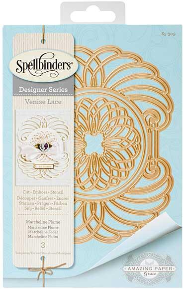 Spellbinders Shapeabilities Dies - Venise Lace - Marcheline Plume (Becca Feeken)