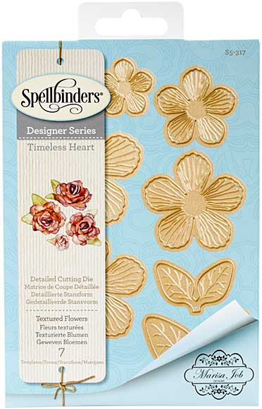 SO: Spellbinder Timeless Heart Designer Series - Textured Flowers (Marisa Job)