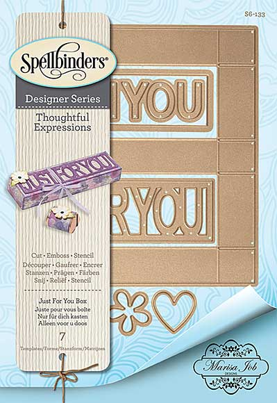 SO: Spellbinders Shapeabilities Dies - Thoughtful Expressions - Just For You Box (Marisa Job)