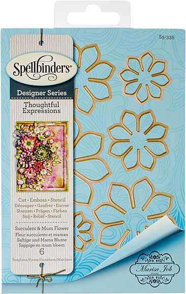 Spellbinders Shapeabilities Dies By Marisa Job - Thoughtful Expressions-Succulent and Mum