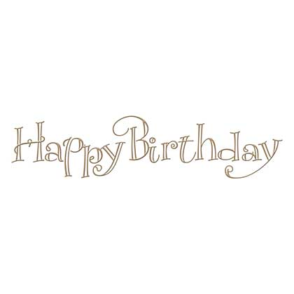 Spellbinders Glimmer Hot Foil Plate Faux Script Happy Birthday