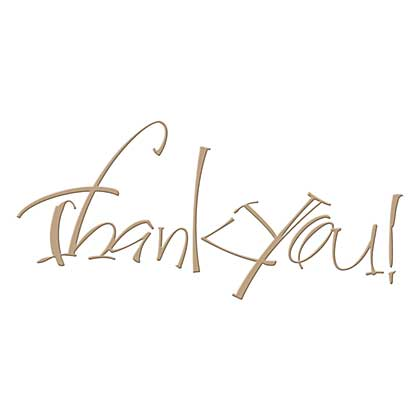 Spellbinders Glimmer Hot Foil Plate Thank You