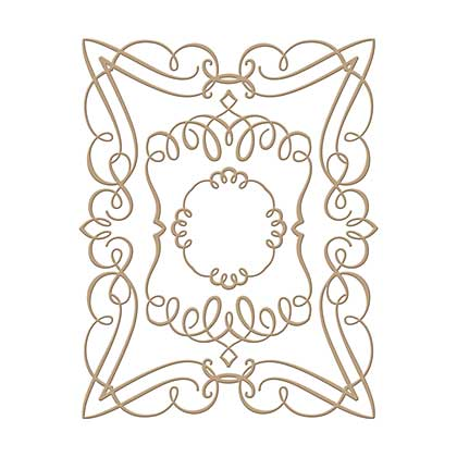 Spellbinders Glimmer Hot Foil Plates Elegant Rectangle