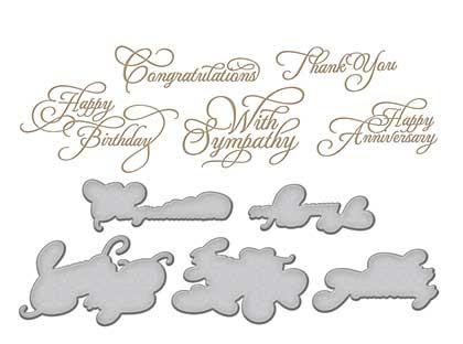 SO: Spellbinders Glimmer Hot Foil Plates Elegant Occasion