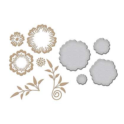 Spellbinders Glimmer Hot Foil Plates Foil Flowers
