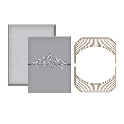 Spellbinders Glimmer Hot Foil Plates Place Card Mini Topper