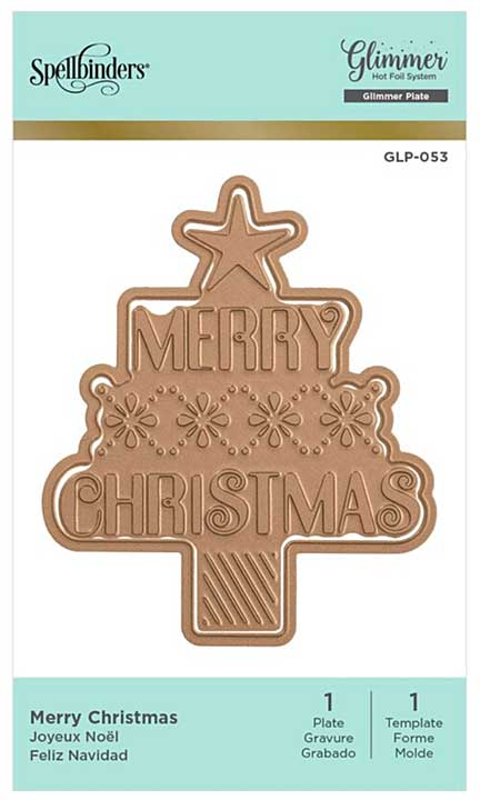 Spelbinders Hot Foil Plate Merry Christmas Tree