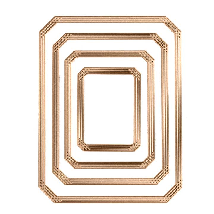 Spellbinders Glimmer Hot Foil Plate Guilded Nested Rectangle Glimmer