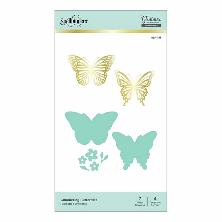 SO: Spellbinders Glimmer Hot Foil Plate and Dies - Glimmering Butterflies