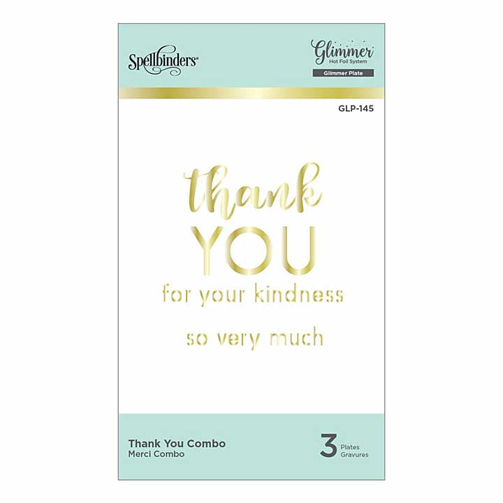 Spellbinders Glimmer Hot Foil Plate - Thank You Combo
