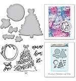 Spellbinders Stamp & Die Template Set Tree