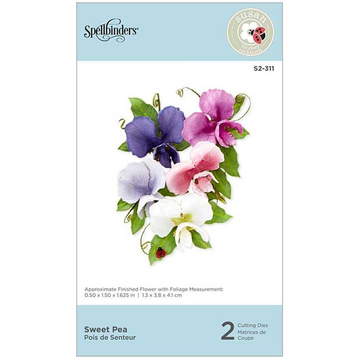 SO: Spellbinders Spring Flora Dies - Sweet Pea - by Susan Tierney-Cockburn