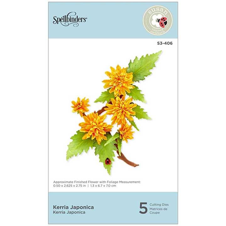 SO: Spellbinders Spring Flora Dies - Kerria Japonica - by Susan Tierney-Cockburn