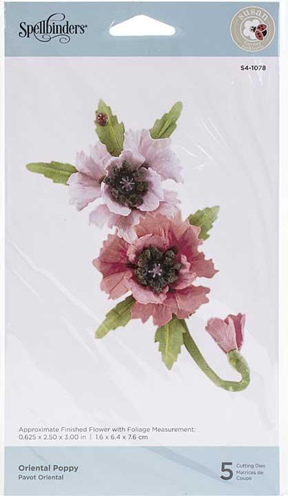 SO: Spellbinders Autumn Flora Dies - Oriental Poppy - by Susan Tierney-Cockburn