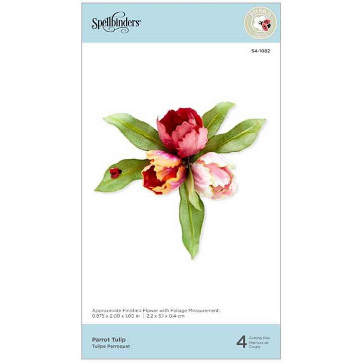 Spellbinders Spring Flora Dies - Parrot Tulip - by Susan Tierney-Cockburn