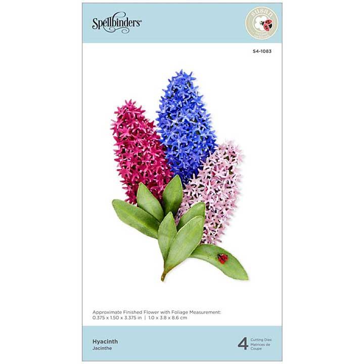 SO: Spellbinders Spring Flora Dies - Hyacinth - by Susan Tierney-Cockburn