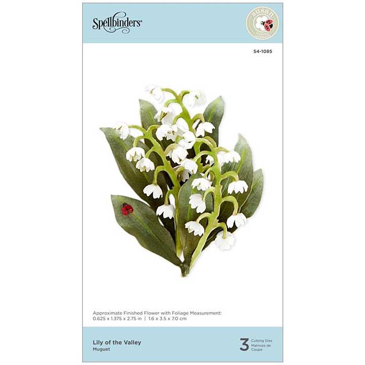 Spellbinders Spring Flora Dies - Lily Of The Valley - by Susan Tierney-Cockburn