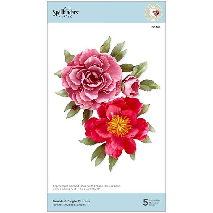 Spellbinders Spring Flora Dies - Double and Single Peonies - by Susan Tierney-Cockburn