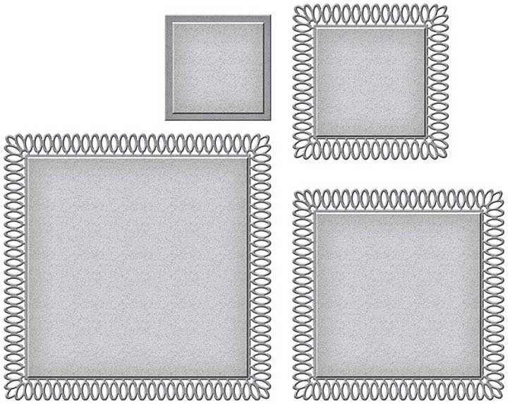 Spellbinders Picot Petite Squares by Becca Feeken