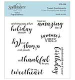 Spellbinders Clear Acrylic Stamps By Vicky Papaioannou - Tweet Sentiments