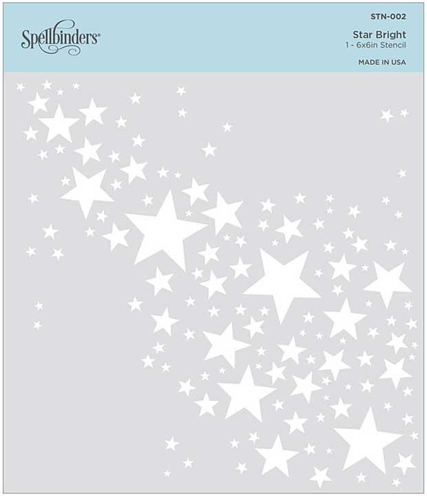 Spellbinders Stencil - Star Bright