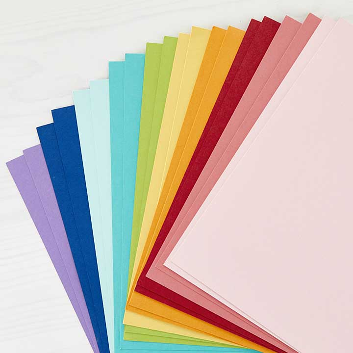 Spellbinders Colour Essentials Cardstock 8.5 x11 20pk - Assorted Colours