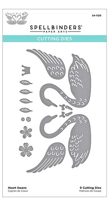 SO: Spellbinders Etched Dies - Heart Swans