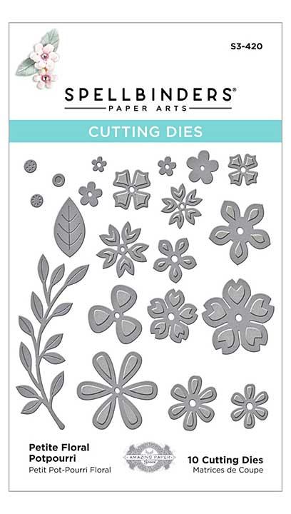 SO: Spellbinders Etched Dies - Petite Floral Potpourri by Becca Feeken