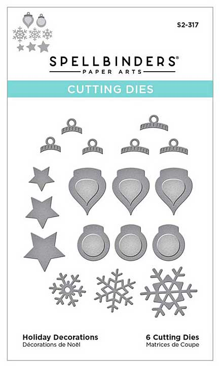 Spellbinders Etched Dies - Holiday Decorations (Tis the Season)