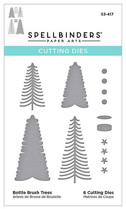 Spellbinders Etched Dies - Bottle Brush Trees