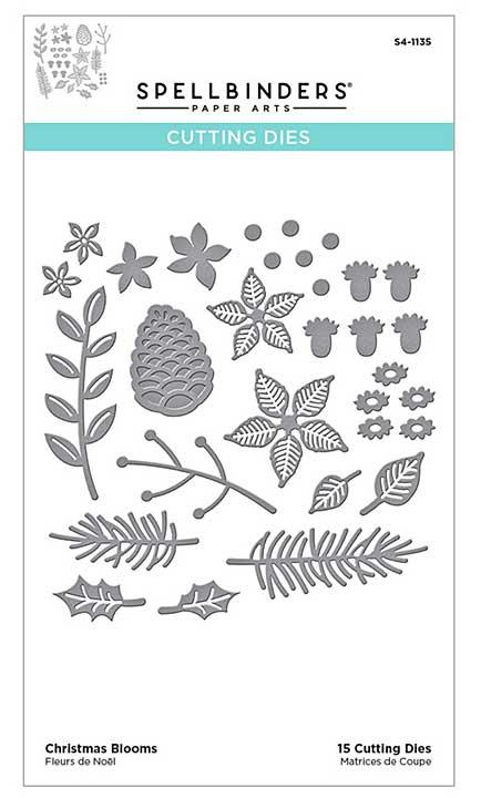 Spellbinders Etched Dies - Christmas Blooms