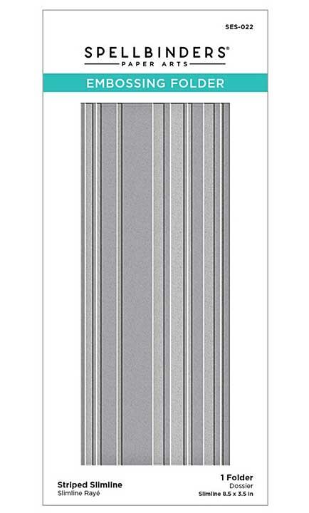 SO: Spellbinders Embossing Folder - Striped Slimline