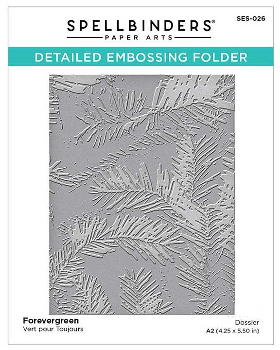 SO: Spellbinders Embossing Folder - Forevergreen