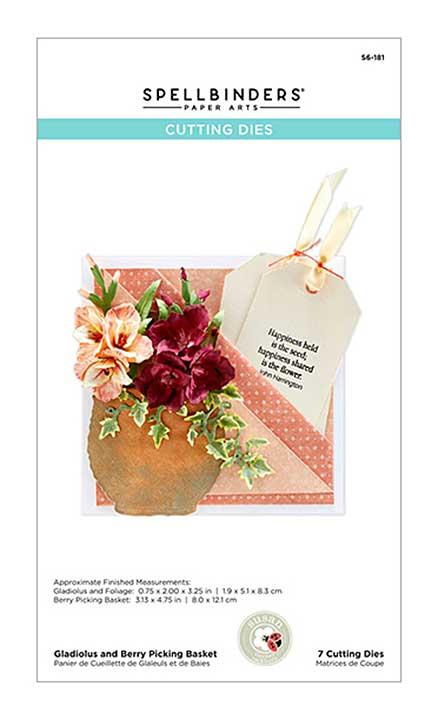 Spellbinders Summer Flora - Gladiolus and Berry Picking Basket - by Susan Tierney-Cockburn